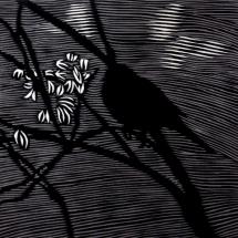 Timo Lehtonen. Unruhe. Woodcut