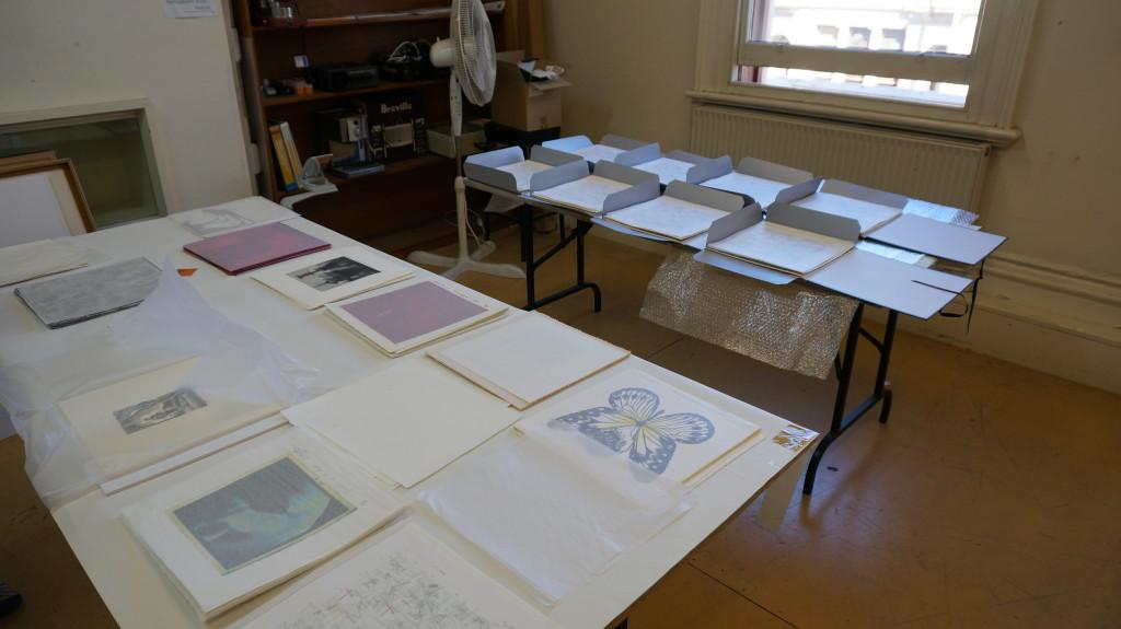 Collating the folios at Federation Uni Ballarat