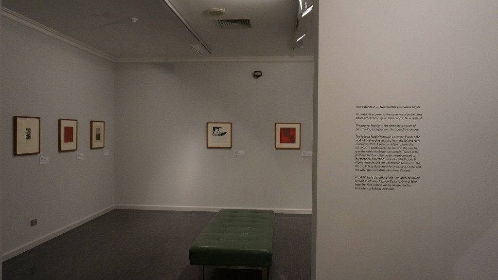 The NZ/UK folio on display at the Art Gallery of Ballarat Oct-Nov 2015